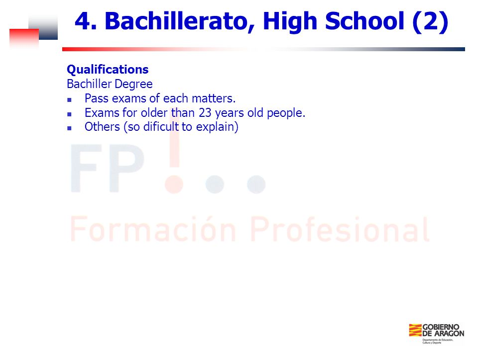 4. Bachillerato, High School (2)