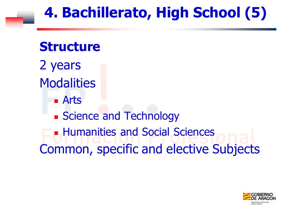 4. Bachillerato, High School (5)