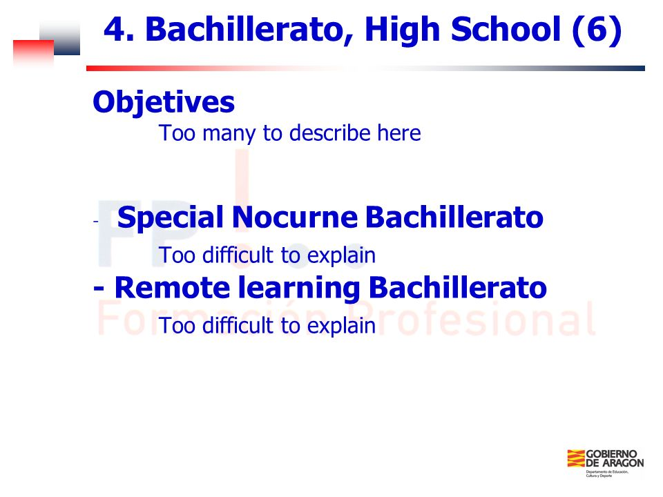 4. Bachillerato, High School (6)