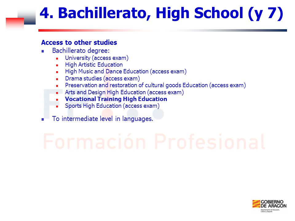 4. Bachillerato, High School (y 7)