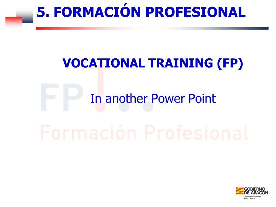5. FORMACIÓN PROFESIONAL