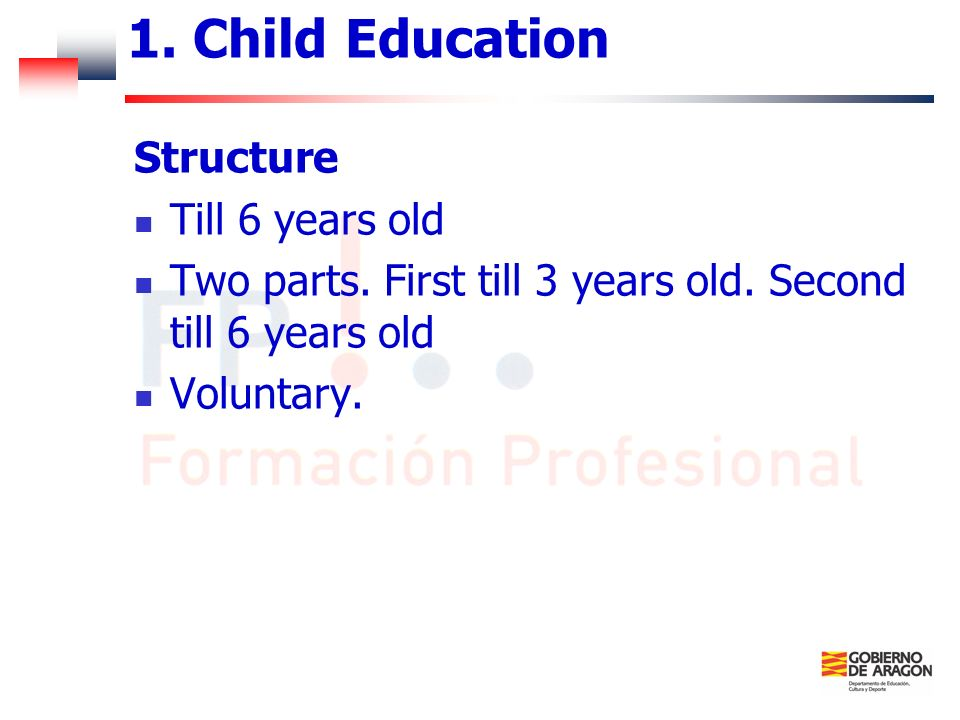 1. Child Education Structure Till 6 years old