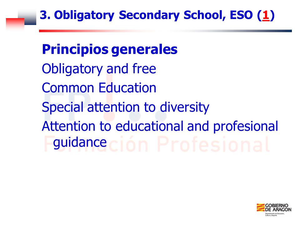 3. Obligatory Secondary School, ESO (1)