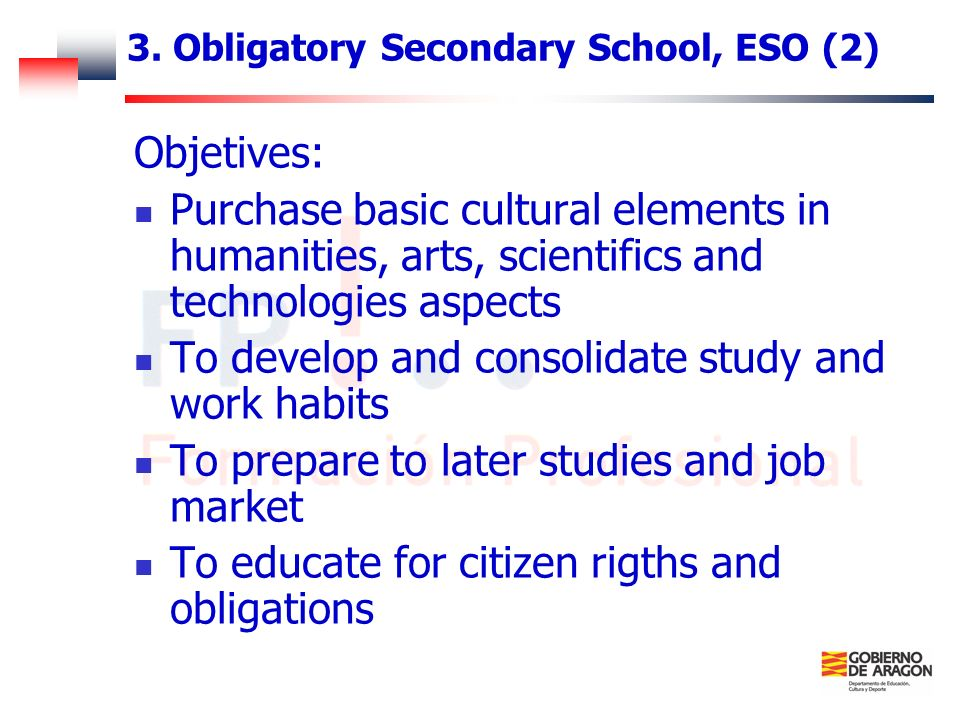 3. Obligatory Secondary School, ESO (2)