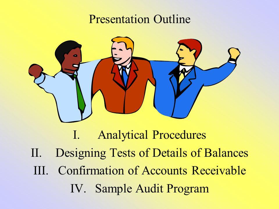 Analytical Procedures Designing Tests of Details of Balances