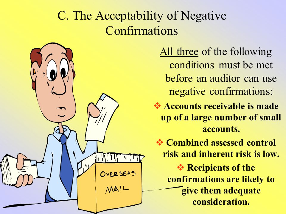 C. The Acceptability of Negative Confirmations