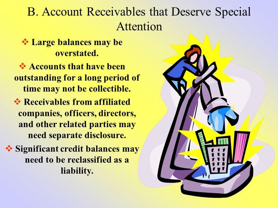 B. Account Receivables that Deserve Special Attention