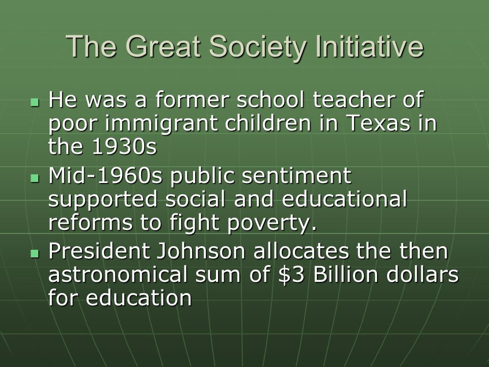 The Great Society Initiative