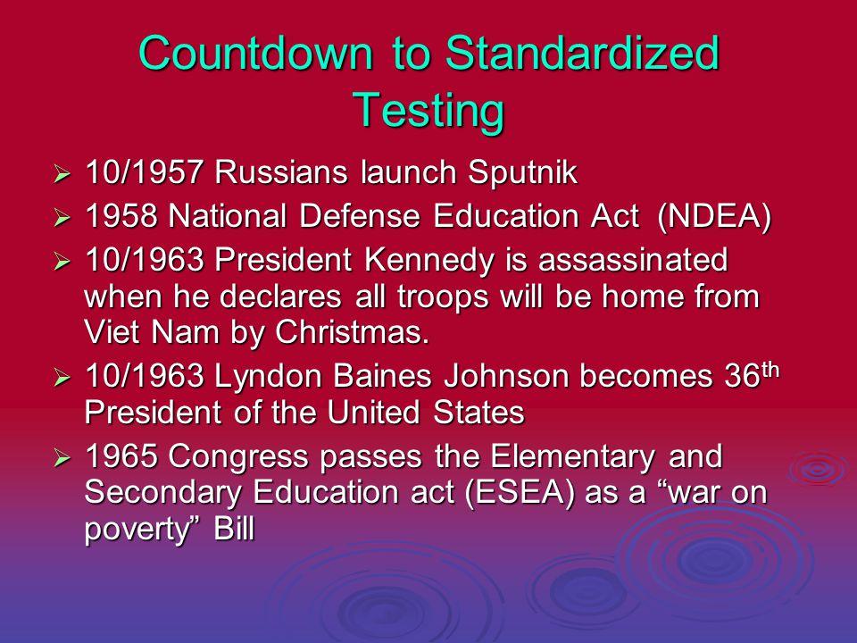 Countdown to Standardized Testing