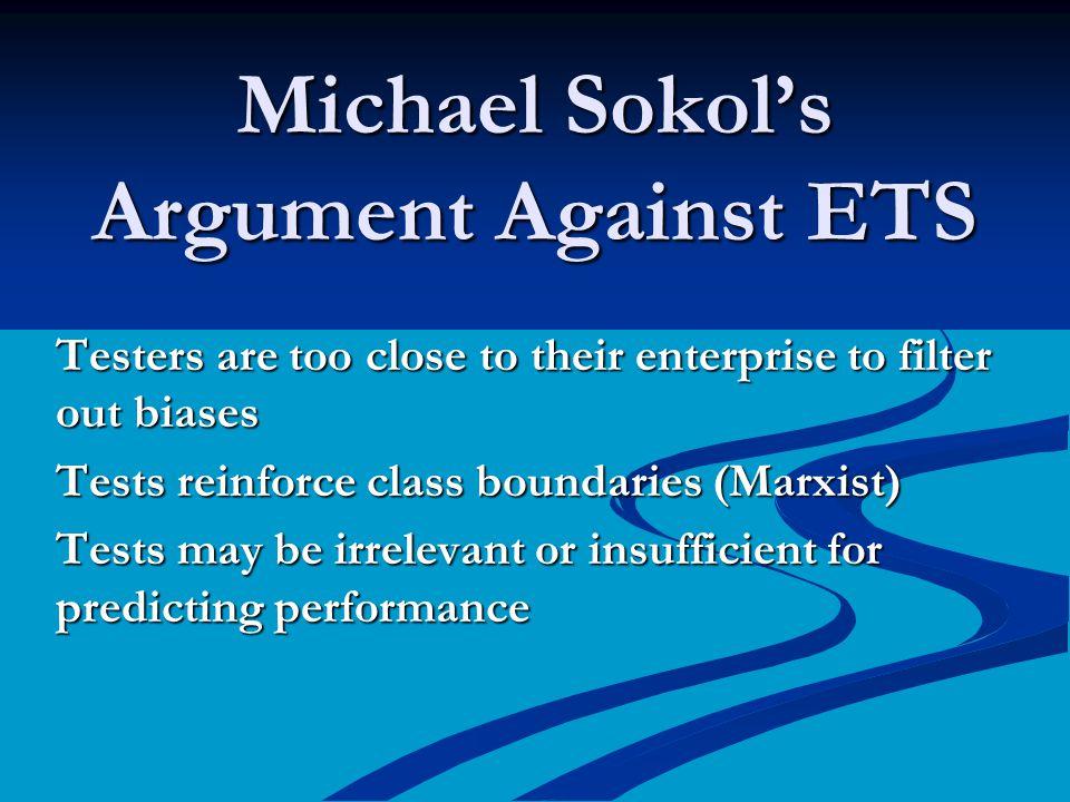 Michael Sokol's Argument Against ETS