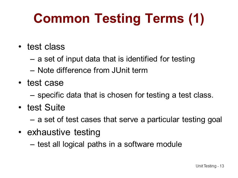 Common Testing Terms (1)