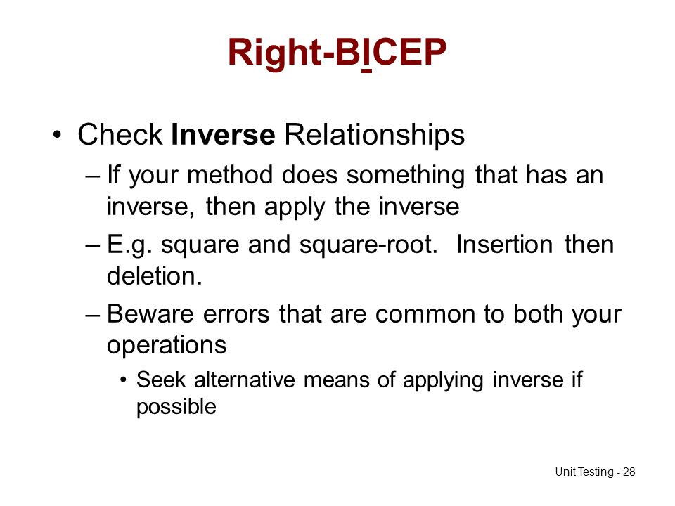 Right-BICEP Check Inverse Relationships