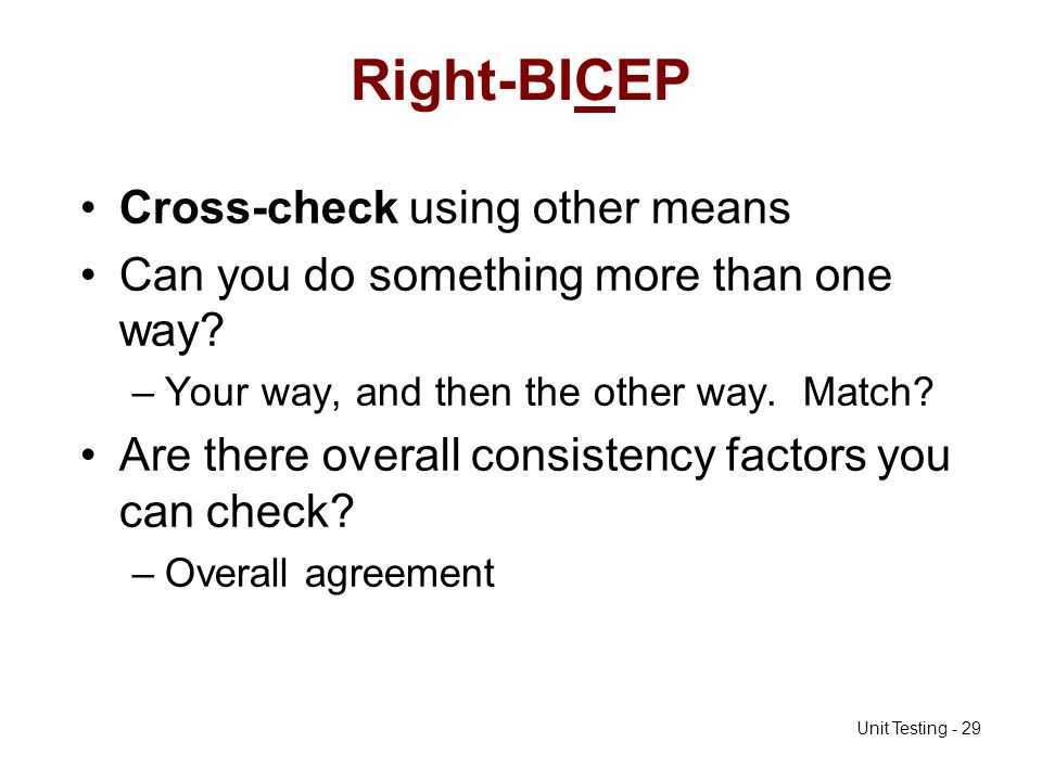 Right-BICEP Cross-check using other means
