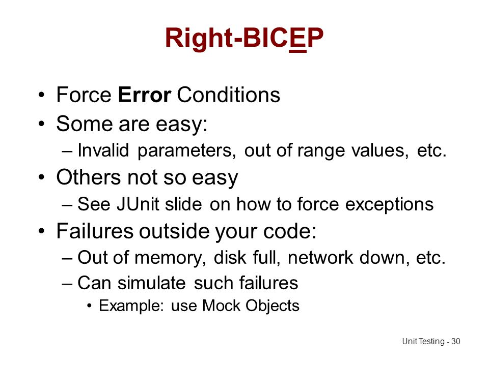 Right-BICEP Force Error Conditions Some are easy: Others not so easy