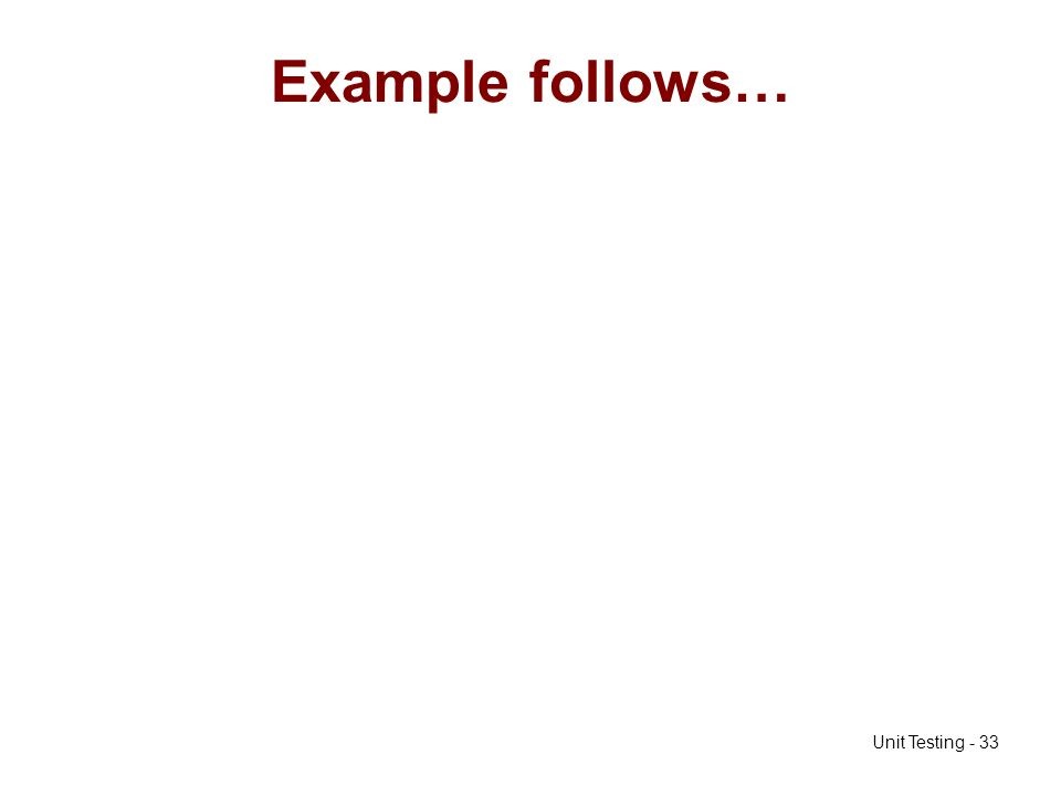 Example follows…