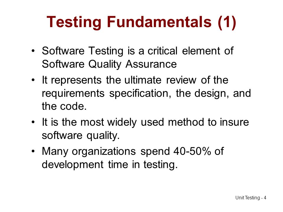 Testing Fundamentals (1)