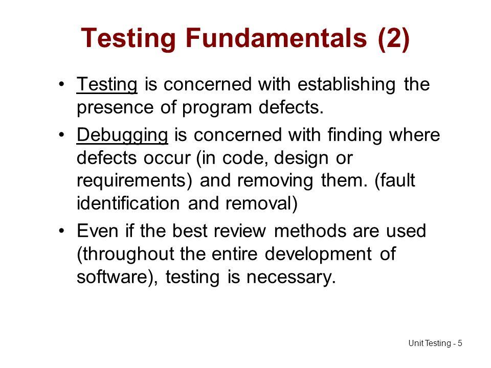 Testing Fundamentals (2)