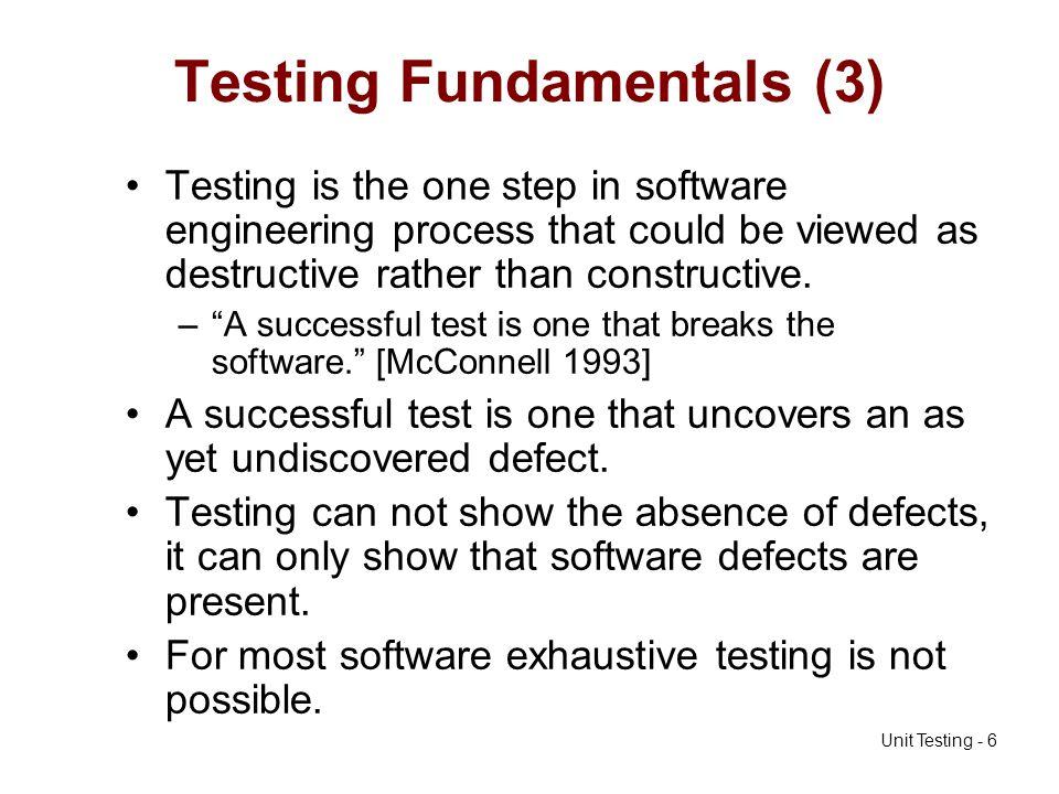 Testing Fundamentals (3)