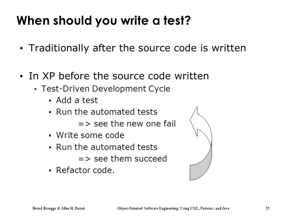 When should you write a test