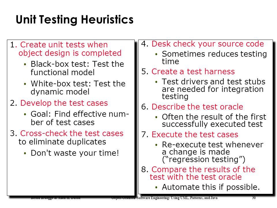 Unit Testing Heuristics