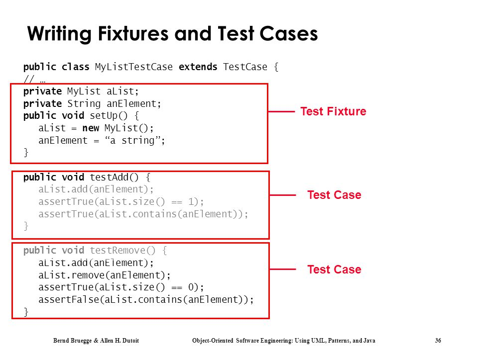 Writing Fixtures and Test Cases