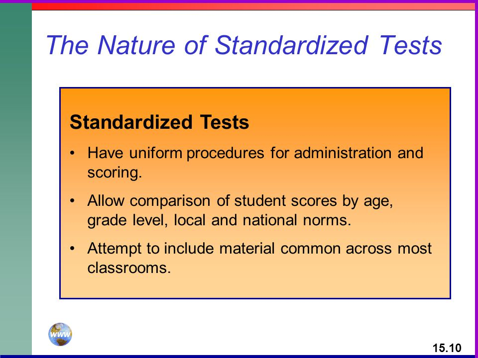 The Nature of Standardized Tests