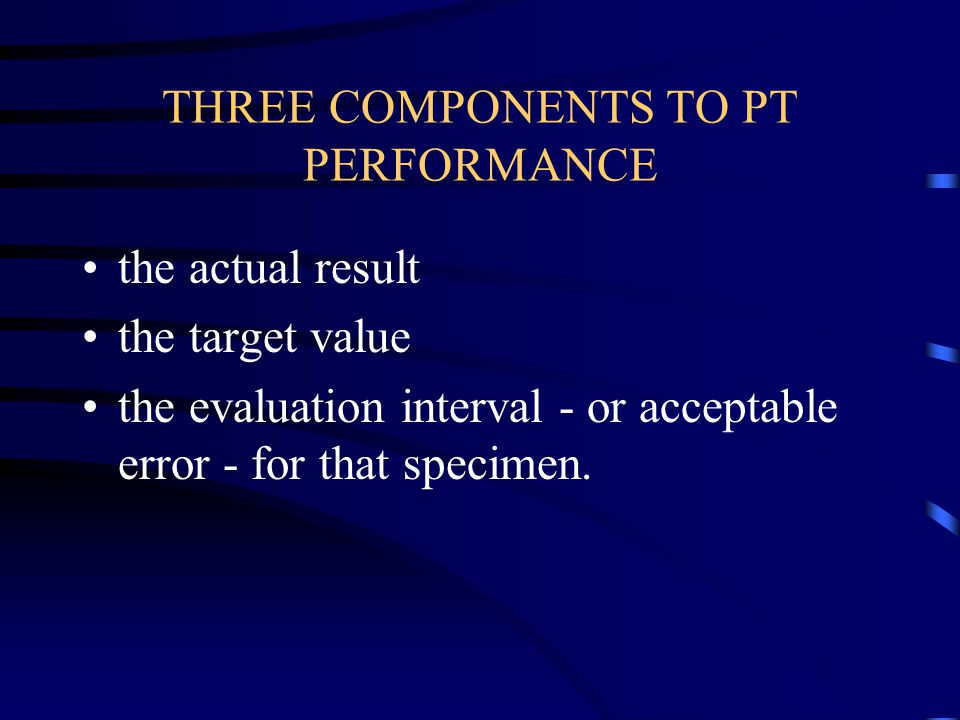 THREE COMPONENTS TO PT PERFORMANCE