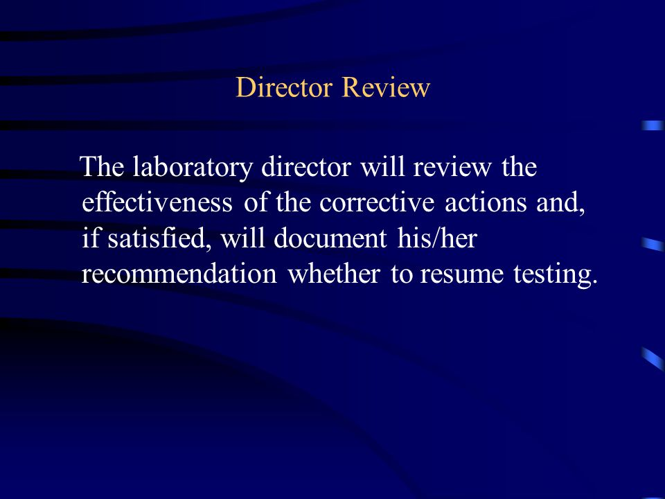 Director Review