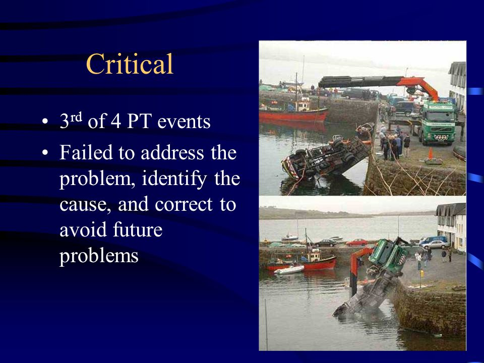 Critical 3rd of 4 PT events