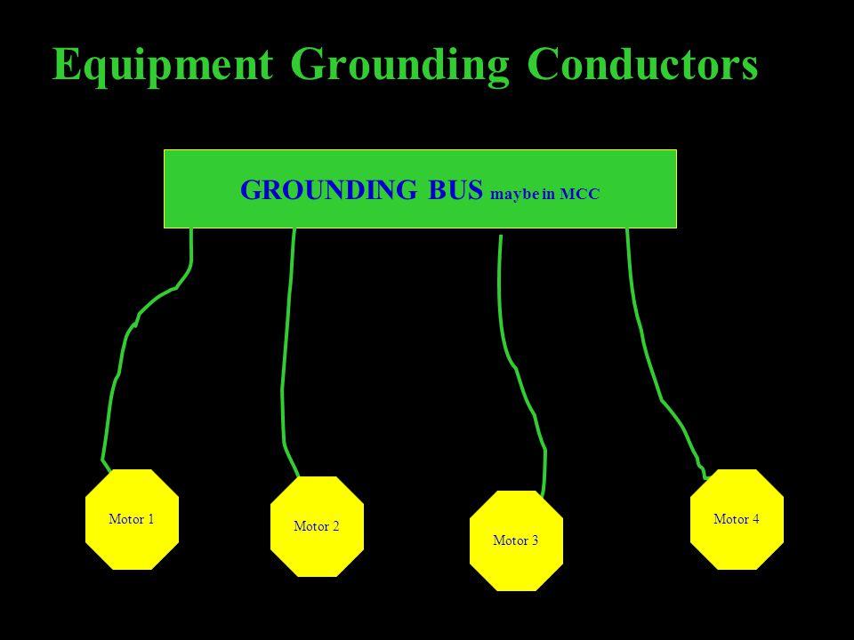 GROUNDING BUS maybe in MCC
