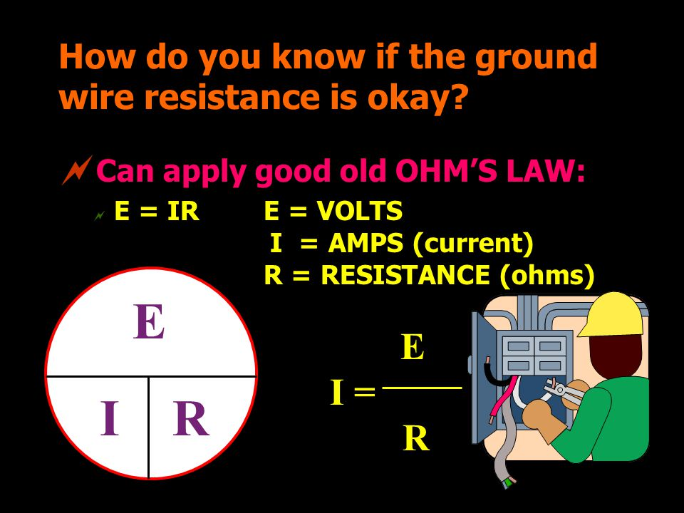 How do you know if the ground wire resistance is okay