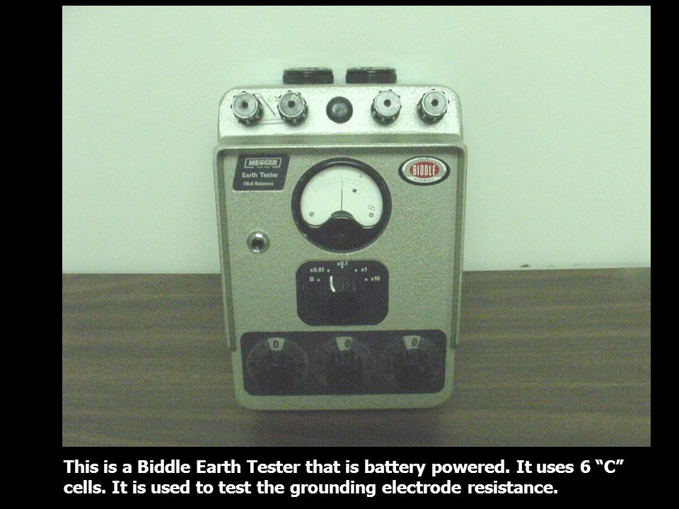 This is a Biddle Earth Tester that is battery powered