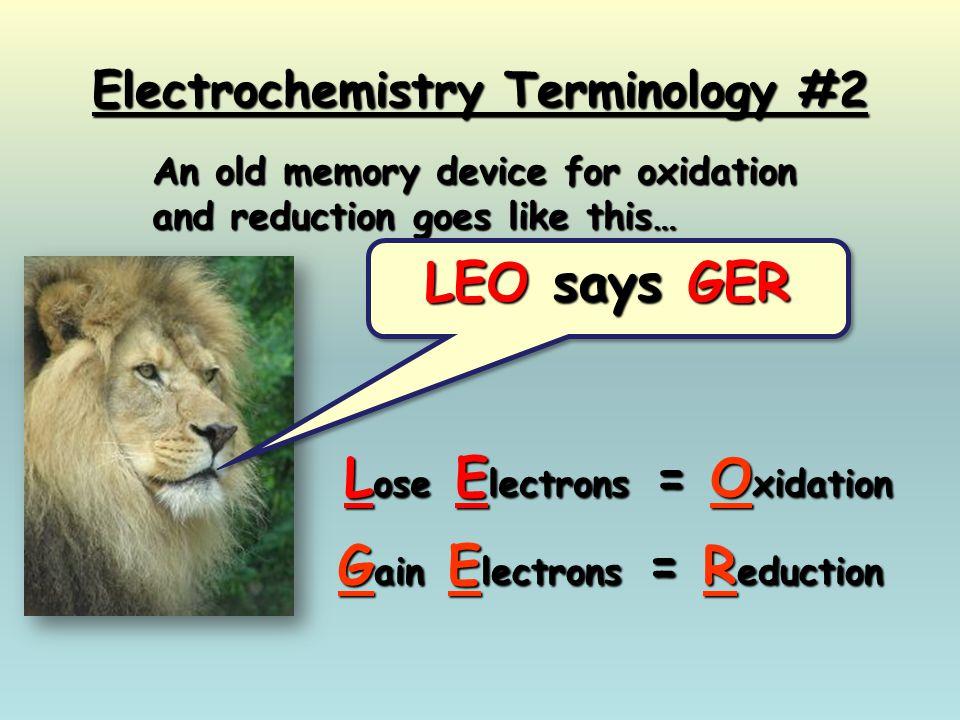 Electrochemistry Terminology #2