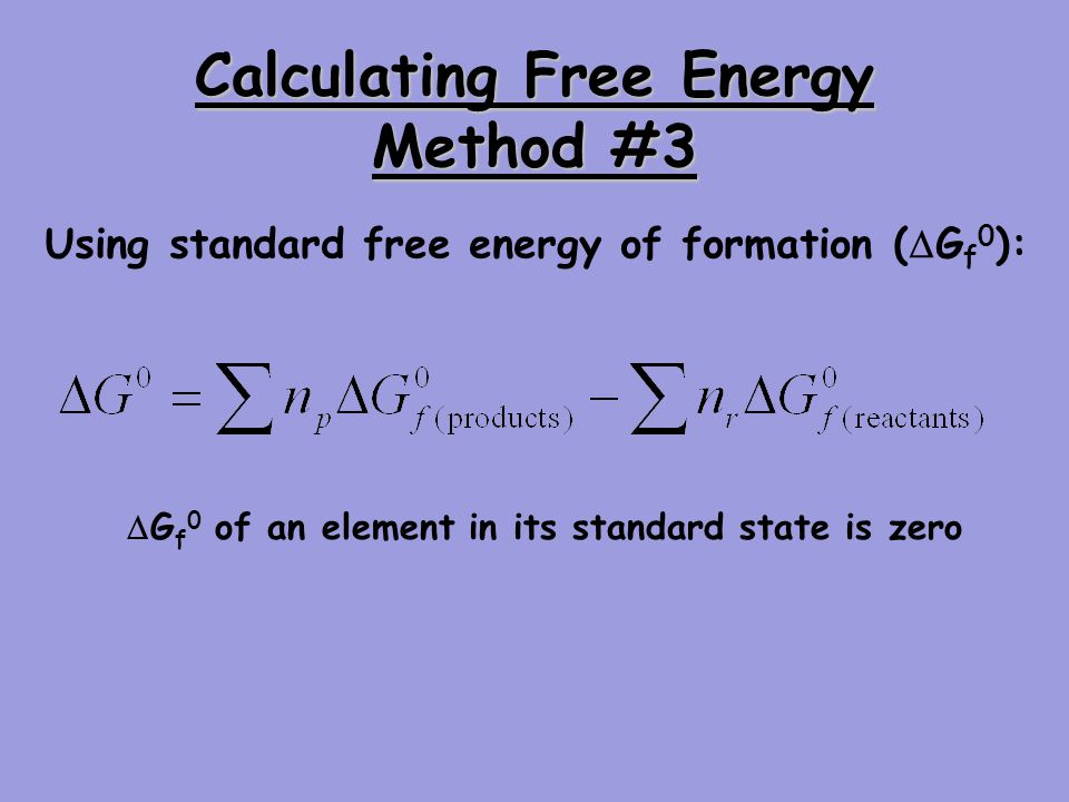 Calculating Free Energy Method #3