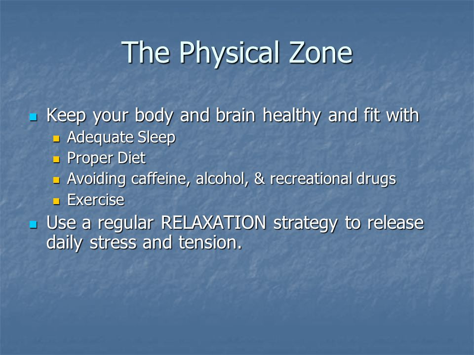 The Physical Zone Keep your body and brain healthy and fit with