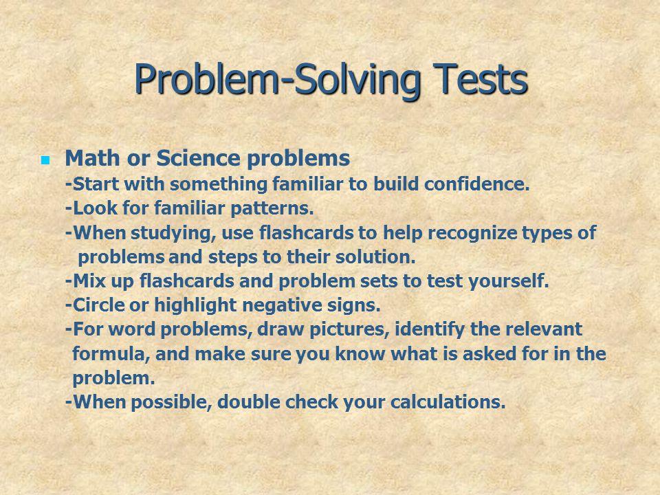 Problem-Solving Tests