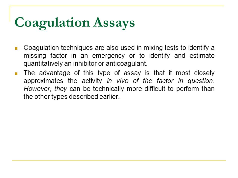 Coagulation Assays