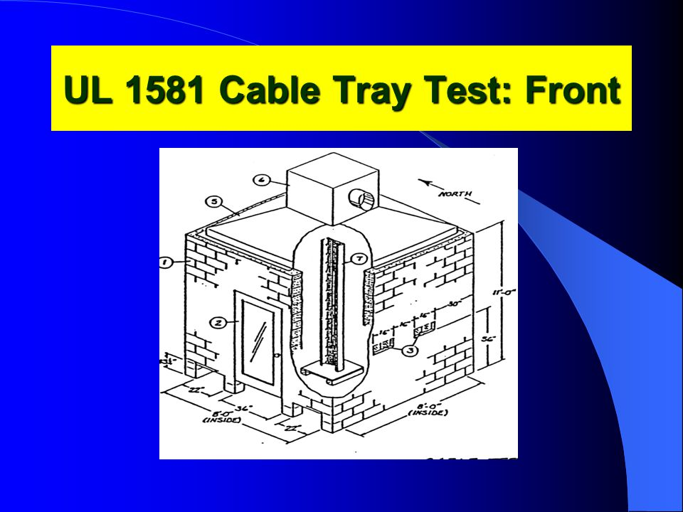 UL 1581 Cable Tray Test: Front
