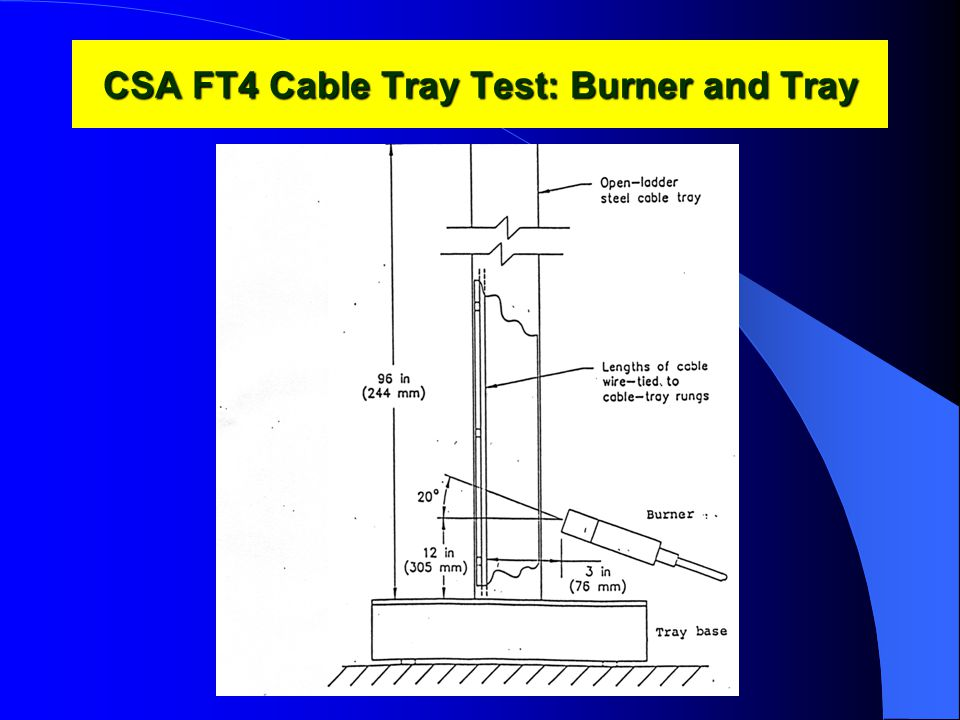 CSA FT4 Cable Tray Test: Burner and Tray