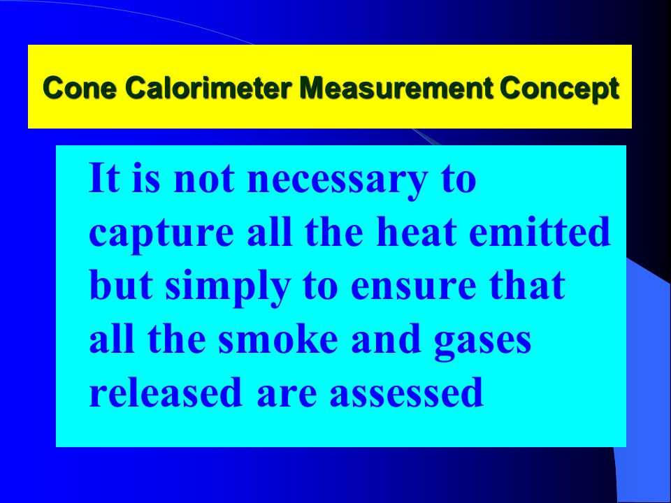 Cone Calorimeter Measurement Concept