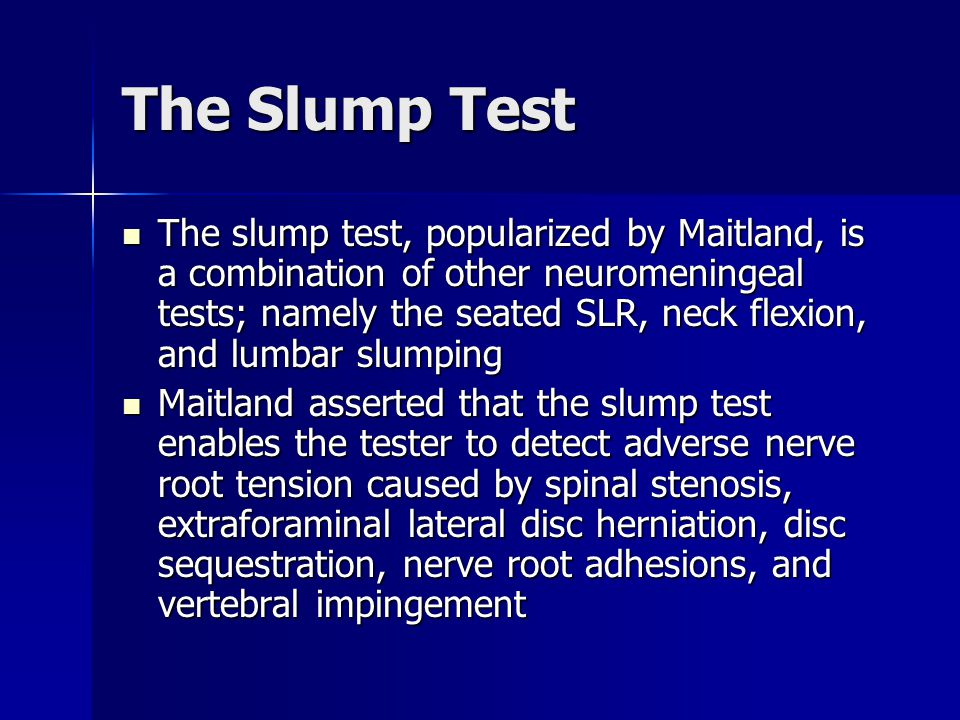 The Slump Test