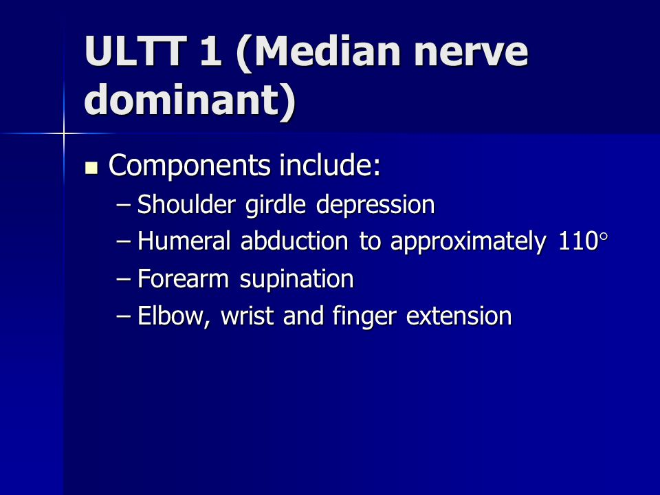 ULTT 1 (Median nerve dominant)