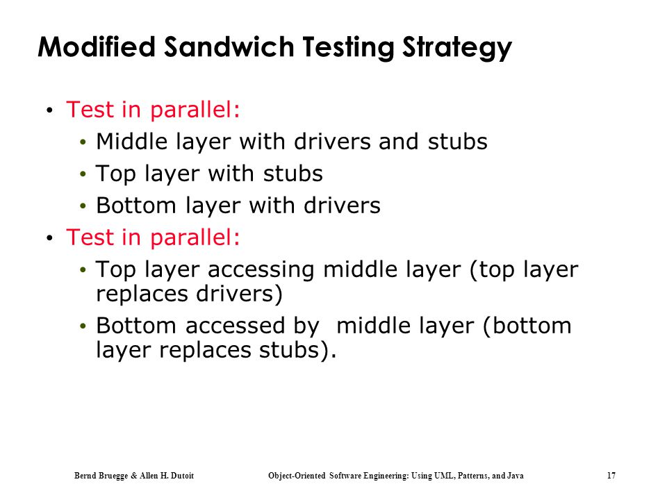 Modified Sandwich Testing Strategy