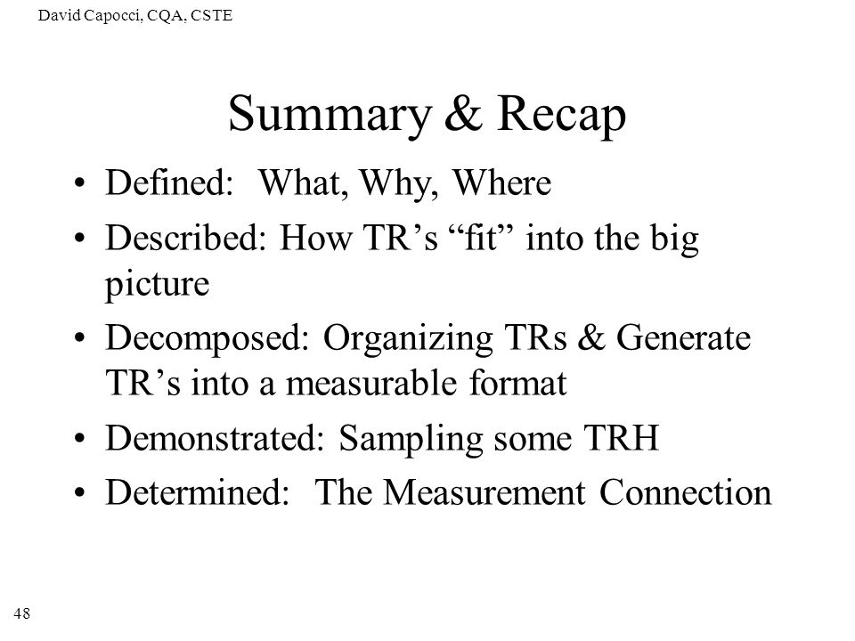 Summary & Recap Defined: What, Why, Where