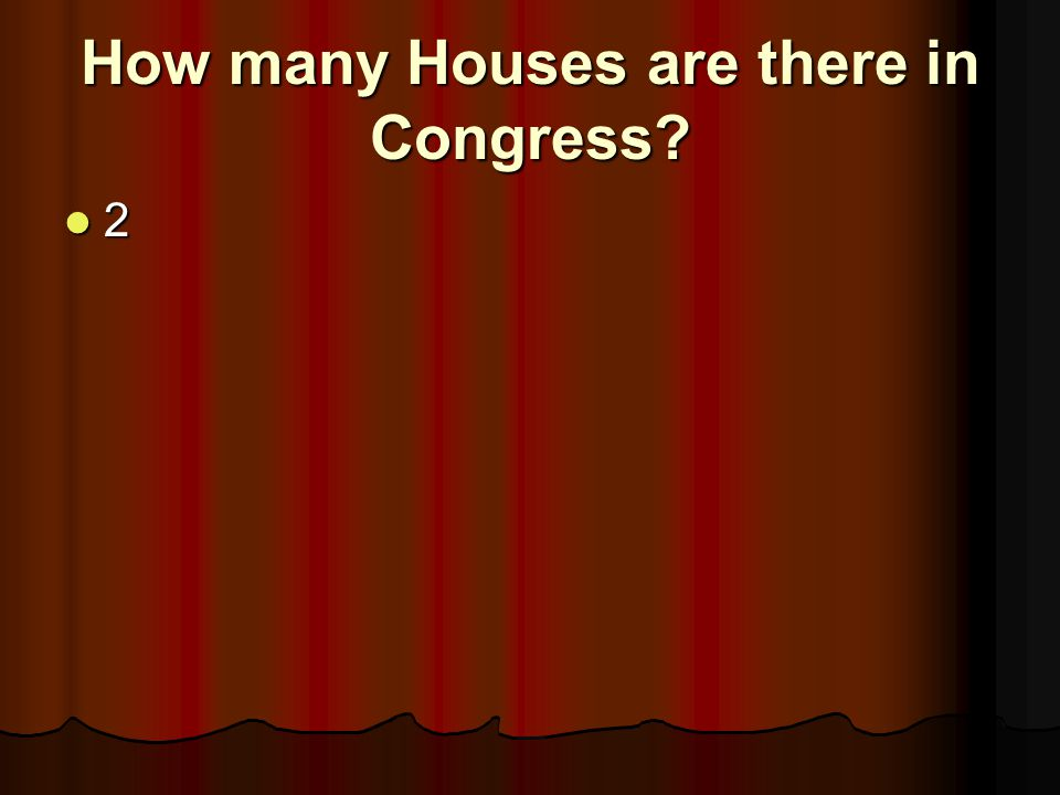 How many Houses are there in Congress