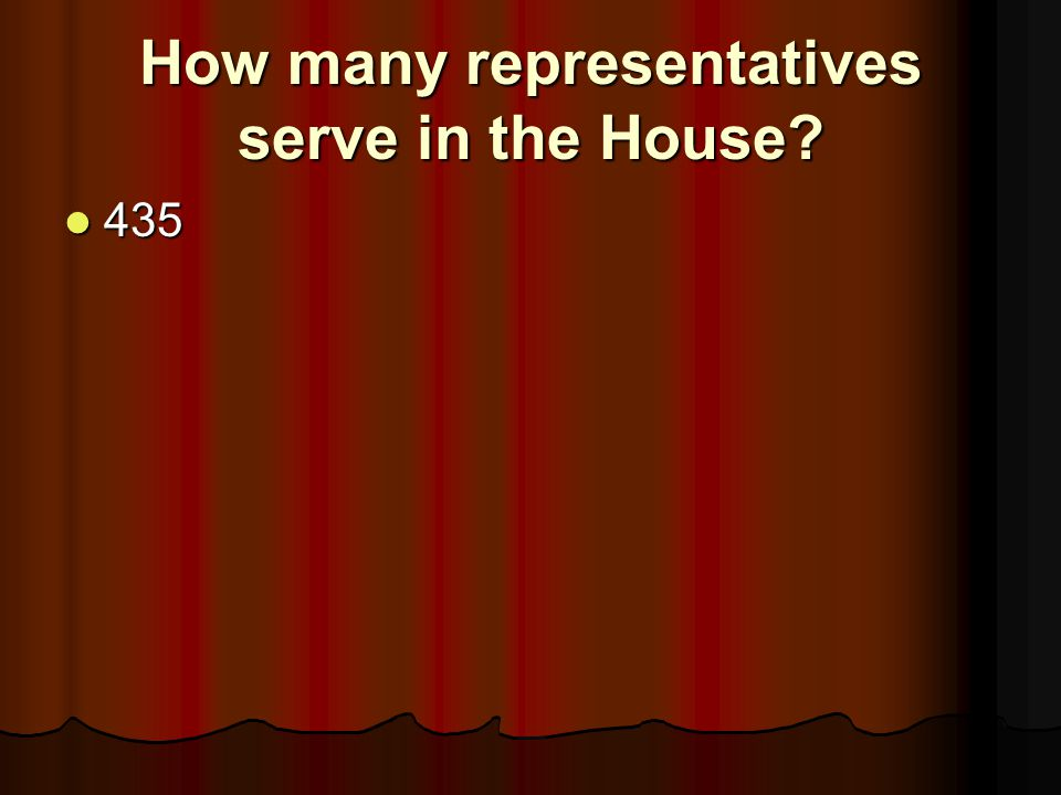 How many representatives serve in the House