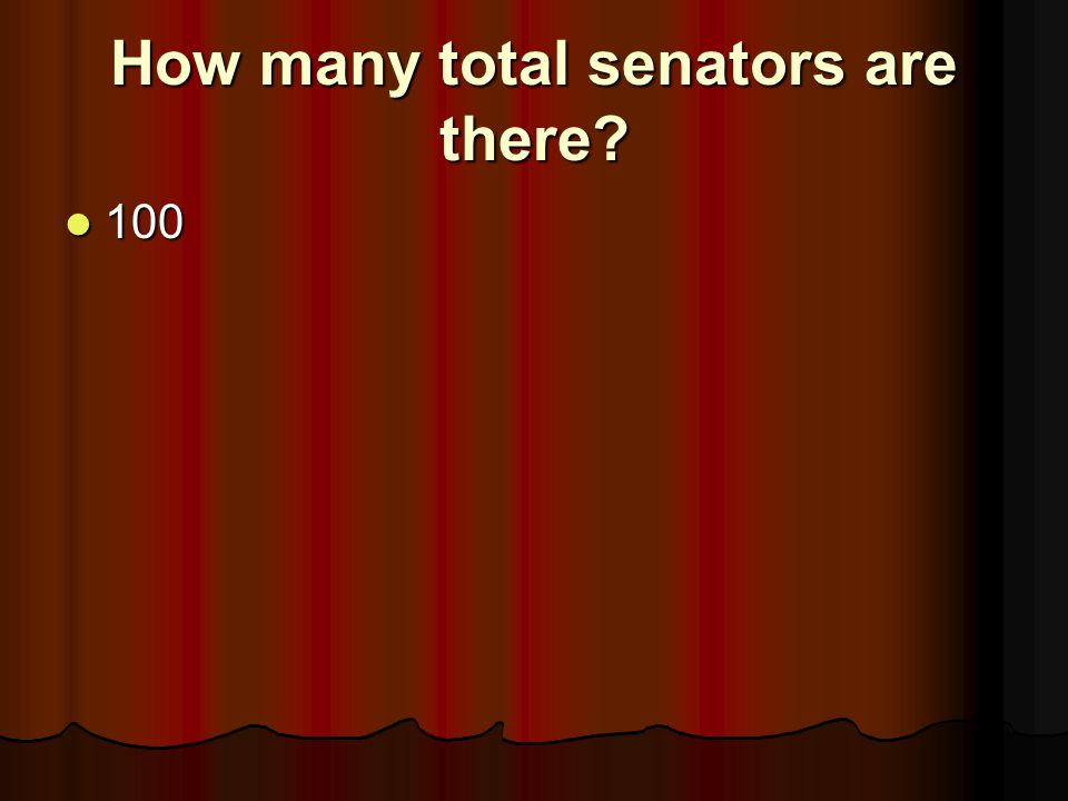 How many total senators are there
