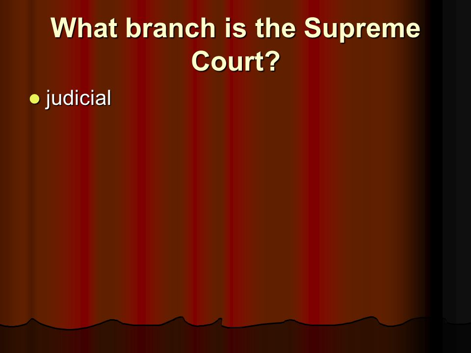 What branch is the Supreme Court