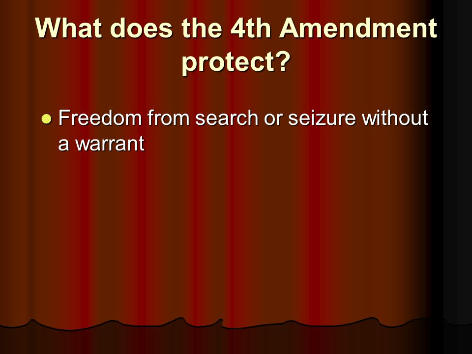 What does the 4th Amendment protect