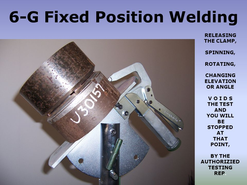 6-G Fixed Position Welding